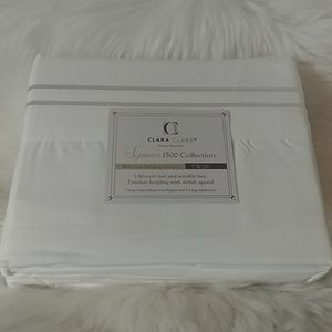Clara Clark Supreme 1500 White Twin Sheet Set